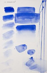 Ultramarine blue, aquarell colour in 17 ml tube