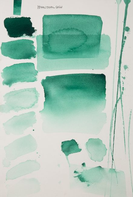 Monastral green, aquarell colour in 17 ml tube