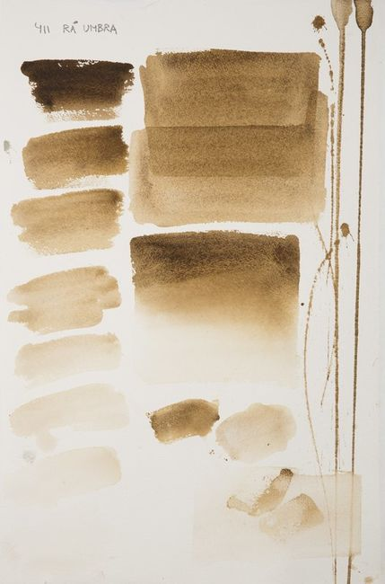 Raw Umber, aquarell colour in 17 ml tube